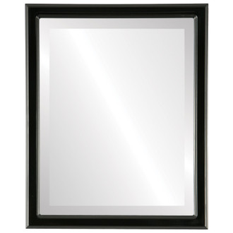 Beveled Mirror - Toronto Rectangle Frame - Matte Black