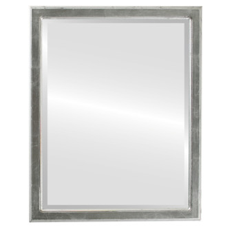 Beveled Mirror - Toronto Rectangle Frame - Silver Leaf with Black Antique