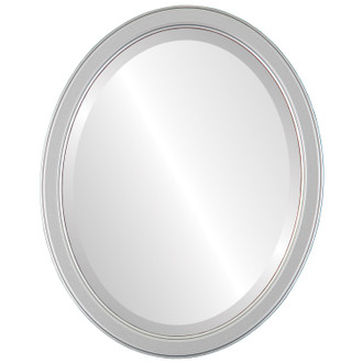 Beveled Mirror - Toronto Oval Frame - Silver Spray