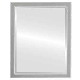 Beveled Mirror - Toronto Rectangle Frame - Silver Spray