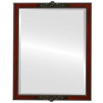 Beveled Mirror - Athena Rectangle Frame - Rosewood