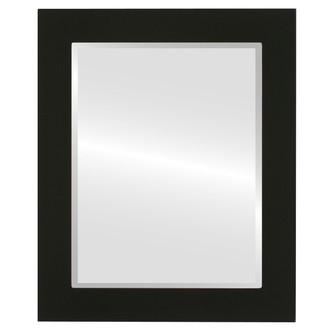 Beveled Mirror - Soho Rectangle Frame - Matte Black