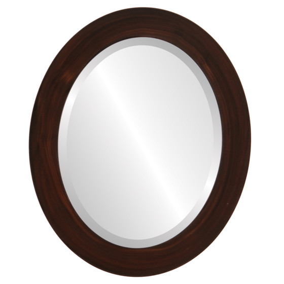 Beveled Mirror - Soho Oval Frame - Mocha