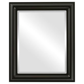 Beveled Mirror - Philadelphia Rectangle Frame - Gloss Black