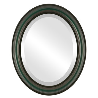 Beveled Mirror - Philadelphia Oval Frame - Hunter Green