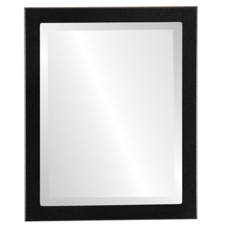 Beveled Mirror - Vienna Rectangle Frame - Matte Black