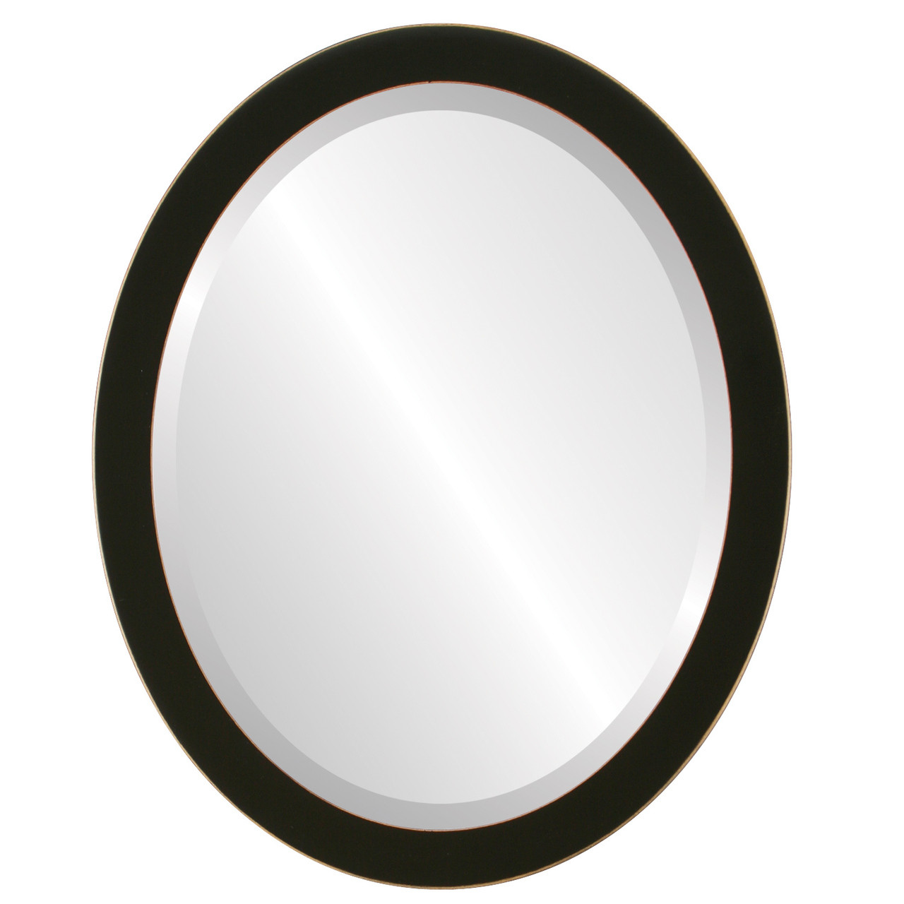 Contemporary Black Oval Mirrors from $103 | Free Shipping