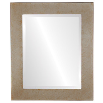 Beveled Mirror - Cafe Rectangle Frame - Burnished Silver