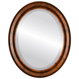 Beveled Mirror - Newport Oval Frame - Venetian Gold