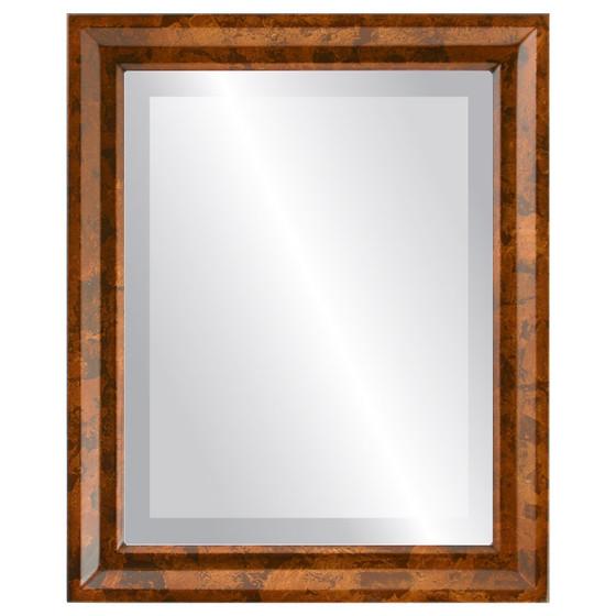 Beveled Mirror - Newport Rectangle Frame - Venetian Gold