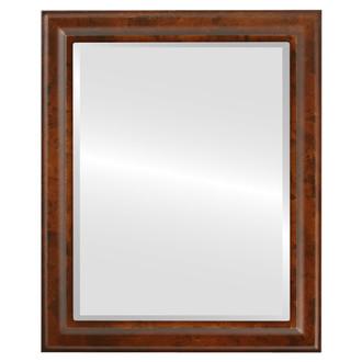 Beveled Mirror - Messina Rectangle Frame - Venetian Gold