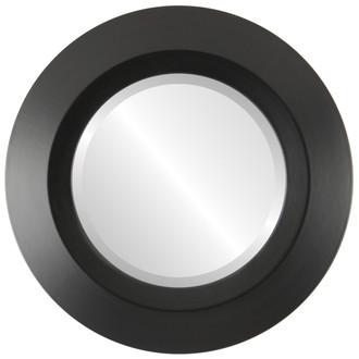 Beveled Mirror - Veneto Round Frame - Matte Black