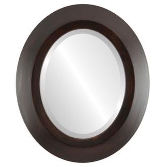 Beveled Mirror - Veneto Oval Frame - Mocha