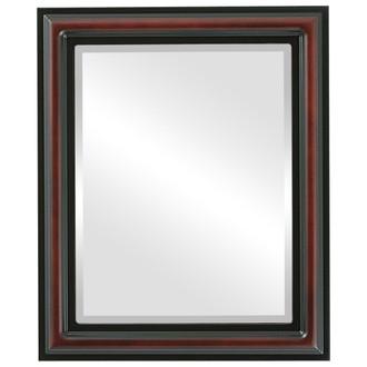 Beveled Mirror - Philadelphia Rectangle Frame - Rosewood