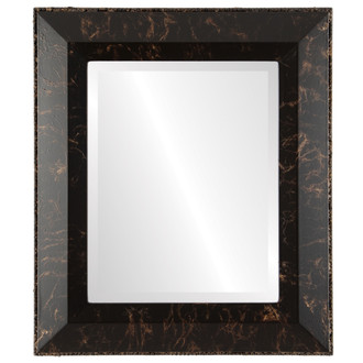 Beveled Mirror - Lombardia Rectangle Frame - Veined Onyx