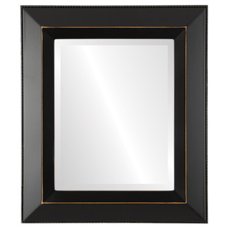 Beveled Mirror - Lombardia Rectangle Frame - Rubbed Black