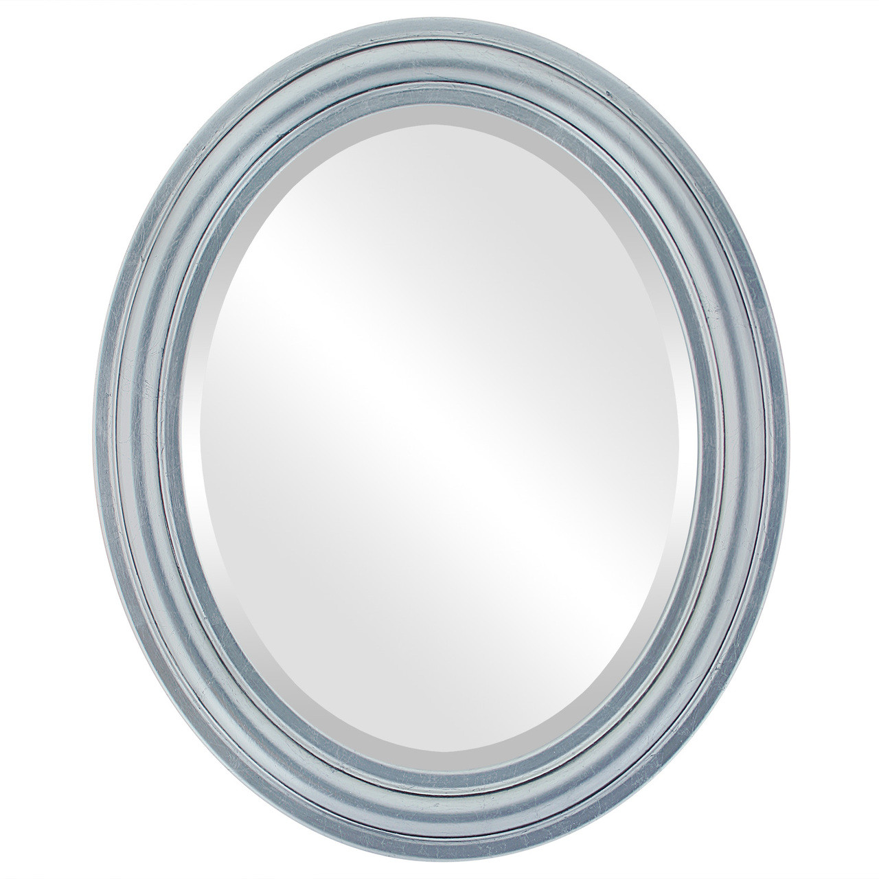Contemporary Silver Oval Mirrors from $142 | Free Shipping
