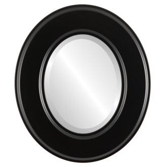 Beveled Mirror - Marquis Oval Frame - Matte Black