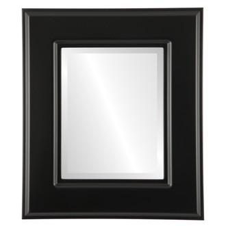 Beveled Mirror - Marquis Rectangle Frame - Matte Black