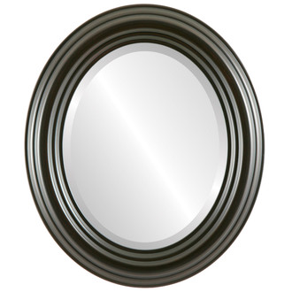 Beveled Mirror - Regalia Oval Frame - Black Walnut