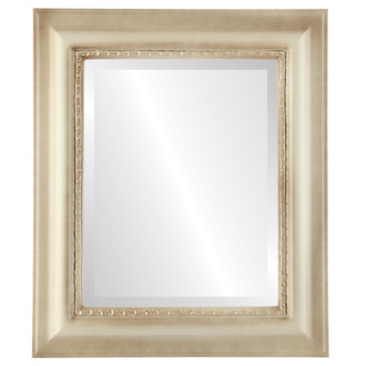 Beveled Mirror - Chicago Rectangle Frame - Taupe