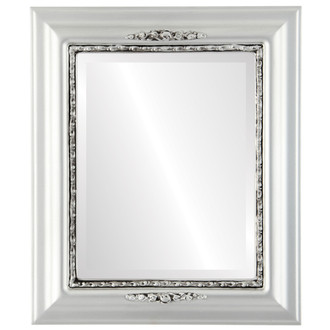 Beveled Mirror - Boston Rectangle Frame - Silver Spray