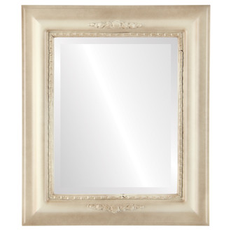 Beveled Mirror - Boston Rectangle Frame - Taupe
