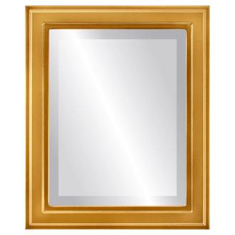 Beveled Mirror - Wright Rectangle Frame - Desert Gold