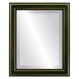 Beveled Mirror - Wright Rectangle Frame - Gloss Black