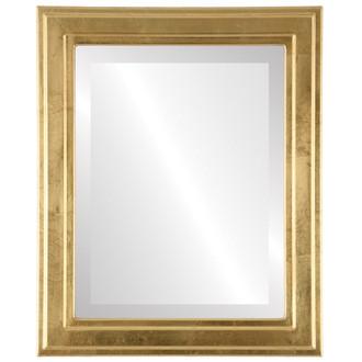 Beveled Mirror - Wright Rectangle Frame - Gold Leaf