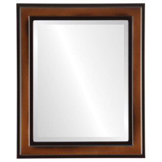 Beveled Mirror - Wright Rectangle Frame - Walnut