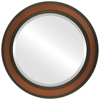 Beveled Mirror - Wright Round Frame - Walnut