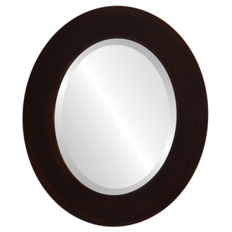 Beveled Mirror - Ashland Oval Frame - Mocha