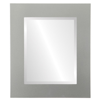 Beveled Mirror - Ashland Rectangle Frame - Bright Silver