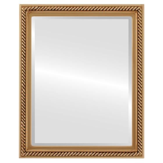 Beveled Mirror - Santa Fe Rectangle Frame - Gold Paint