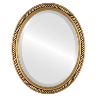 Beveled Mirror - Santa Fe Oval Frame - Gold Leaf