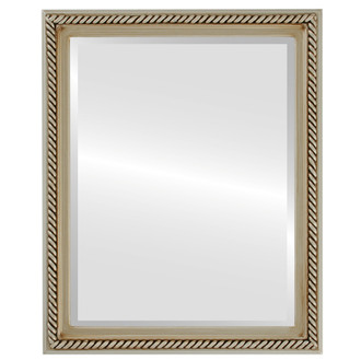 Beveled Mirror - Santa Fe Rectangle Frame - Silver