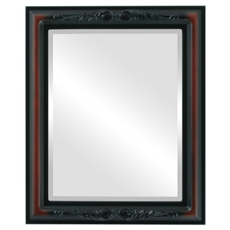 Beveled Mirror - Florence Rectangle Frame - Rosewood