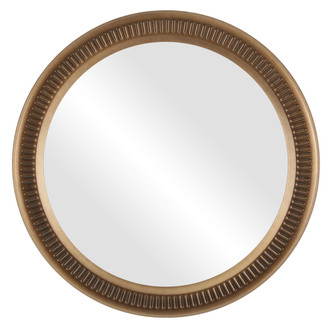 Divoted Round Framed Mirror