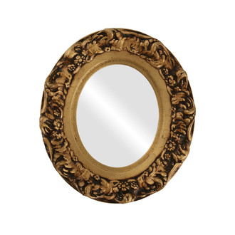 Ruffled Oval Framed Mirror