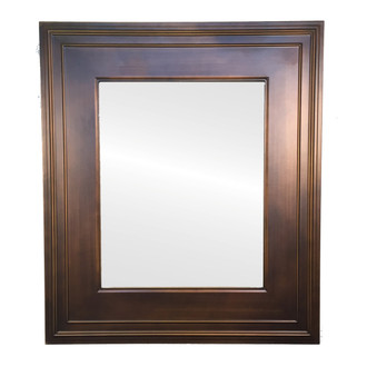 Wide Rectangle Framed Mirror with Ridges