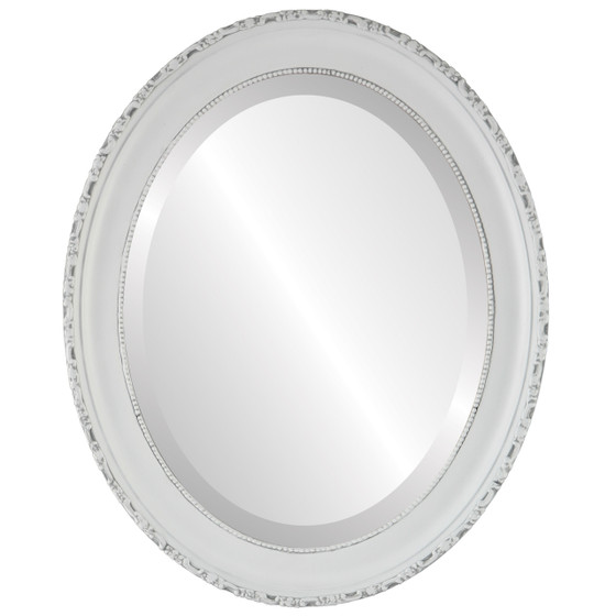 Antique White Oval Mirrors from $136 | Free Shipping