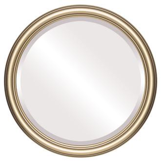 Beveled Mirror - Saratoga Round Frame - Gold Spray