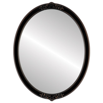 Athena Framed Oval Flat Mirror - Rubbed Bronze