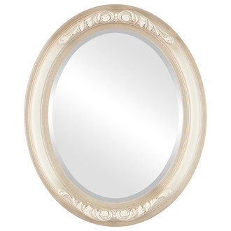 Beveled Mirror - Florence Oval Frame - Taupe