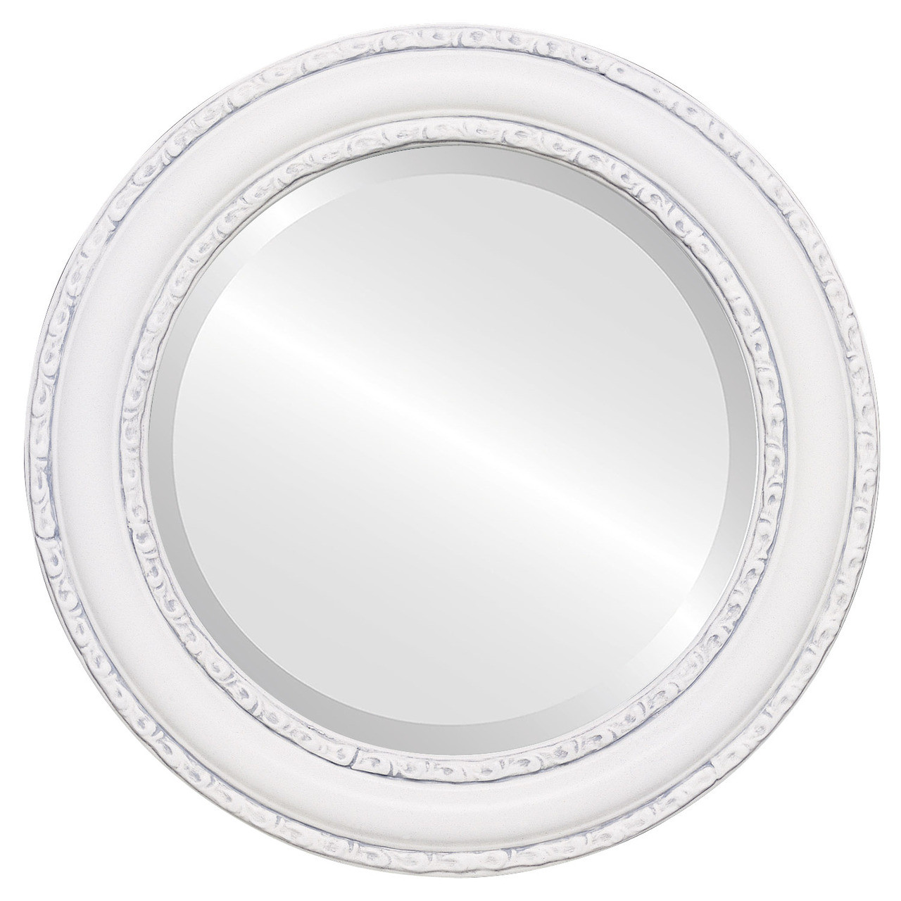 Antique white round mirrors from 136 free shipping for White round wall mirror