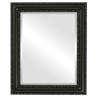 Beveled Mirror - Dorset Rectangle Frame - Matte Black
