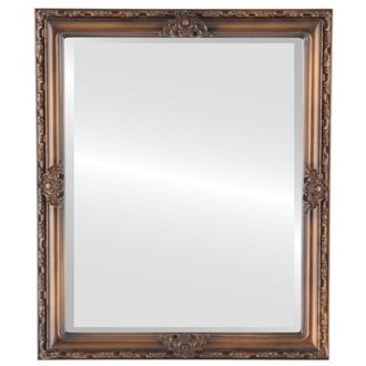 Beveled Mirror - Jefferson Rectangle Frame - Sunset Gold