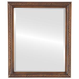 Beveled Mirror - Santa Fe Rectangle Frame - Sunset Gold