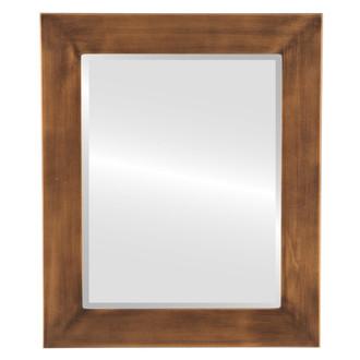 Beveled Mirror - Avenue Rectangle Frame - Sunset Gold